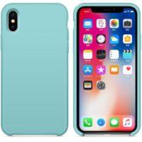 Silikon Gel Hülle für das iPhone X/Xs eisblau