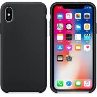 Silikon Gel Hülle für das iPhone X/Xs schwarz